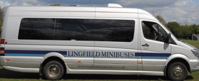 side view of the minibus