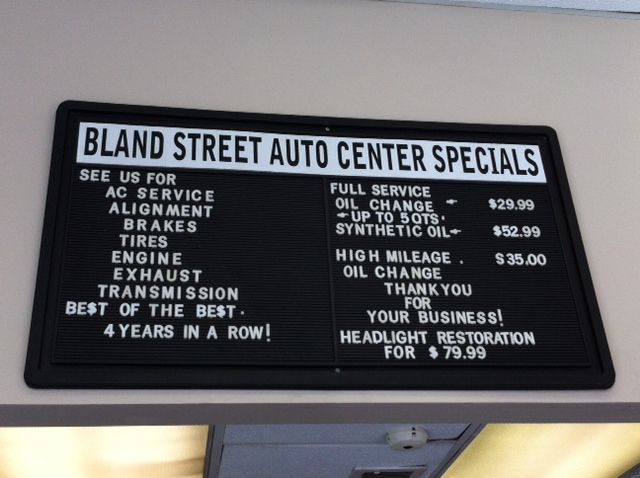 Some of our service specials