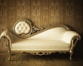 A cream chaise lounge