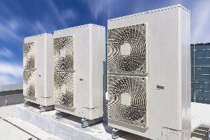 Commercial air conditioning units on the roof