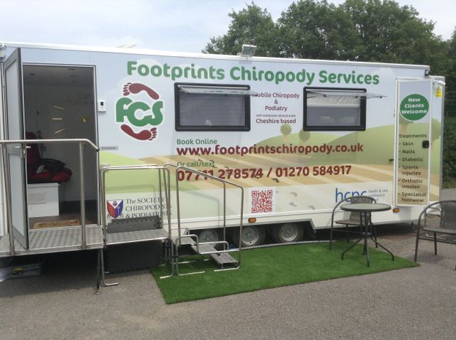 Mobile Chiropody in Holmes Chapel, Middlewich, Crewe & Cheshire