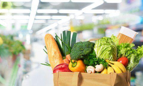 busta con ortaggi e frutta