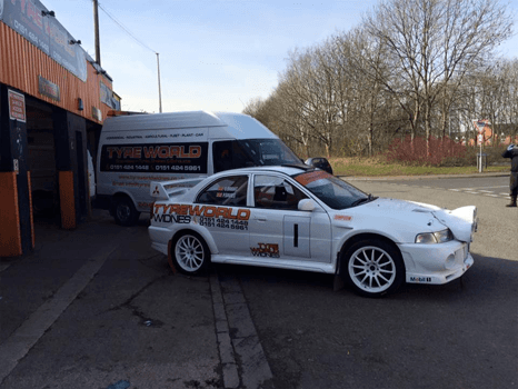 Tyres for racing cars