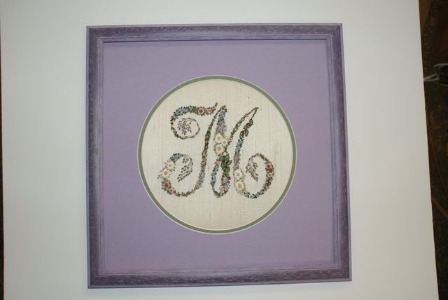 Embroidery Initial Cross Stitch
