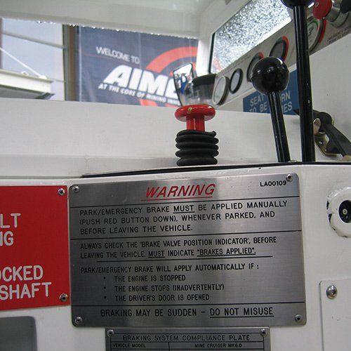 engraved warning label