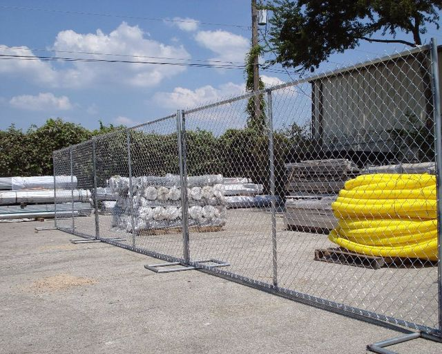 temporary fence panels rental