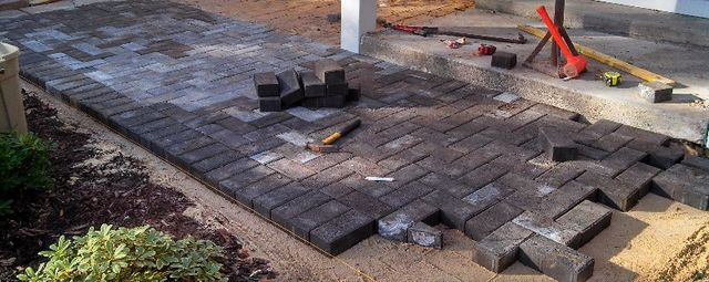 Patio Installation in Greenville, NC - Creech's Landscaping Company