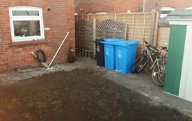 garden area after cleaning