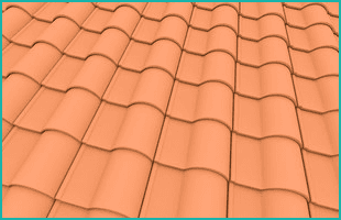 orange coloured roofing