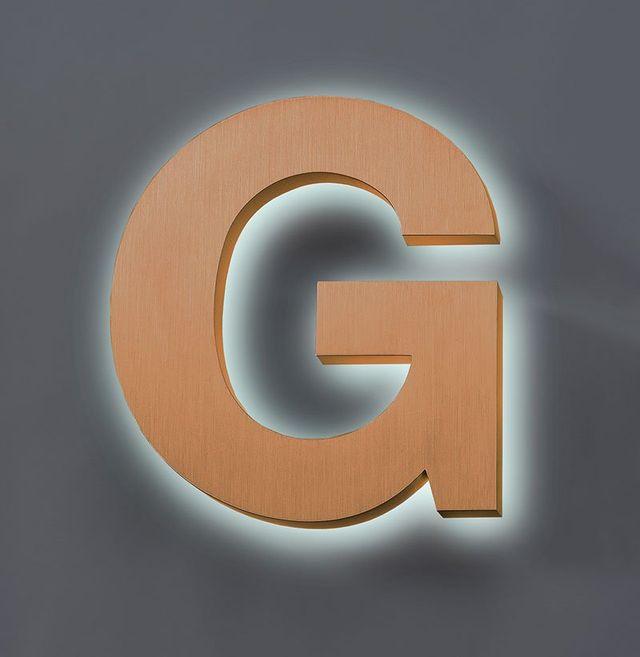 cast bronze letter