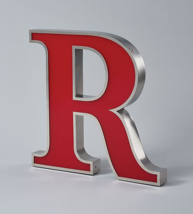 Stainless Steel Front Lit LED Letter R