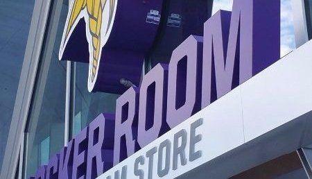 LED channel letters locker room