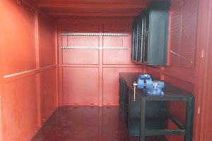 inside of metal container