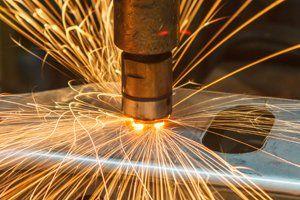 spot welder making a weld
