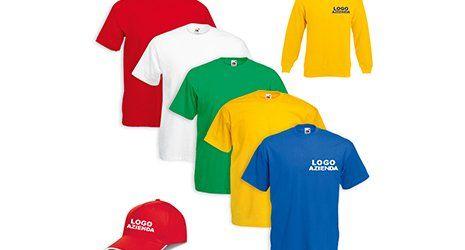 delle  magliette personalizzabili di diversi colori