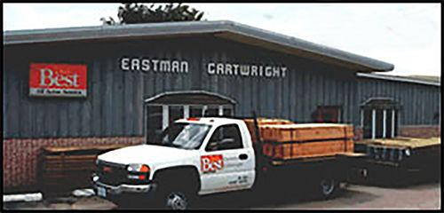 Eastman Cartwright shed and truck in Platteville, WI