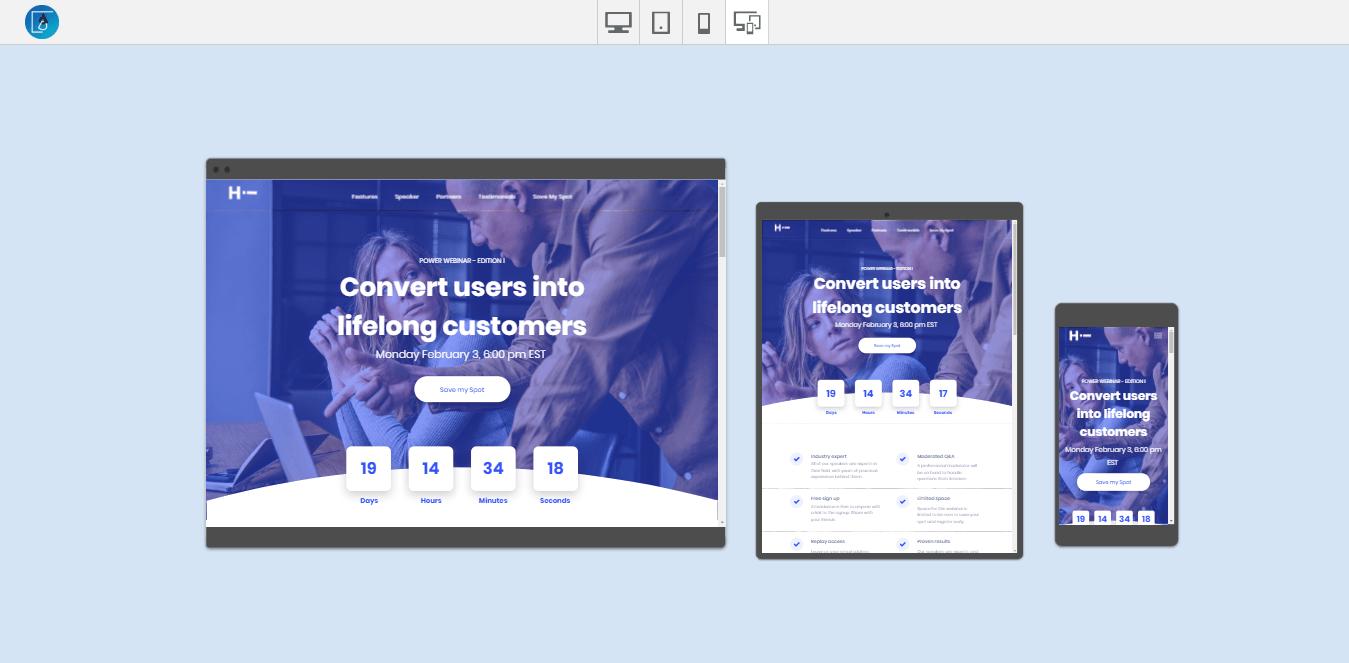 Webinar Website Templates