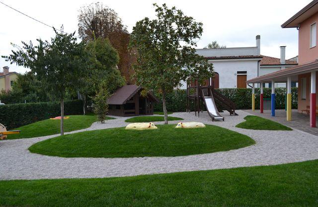 area giochi con giardino