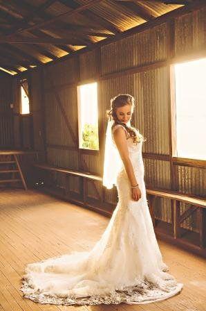 bride in the farm