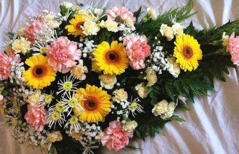 coffin bouquet
