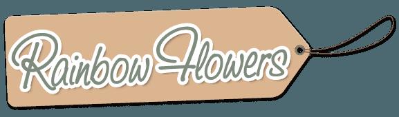 Rainbow flowers company logo