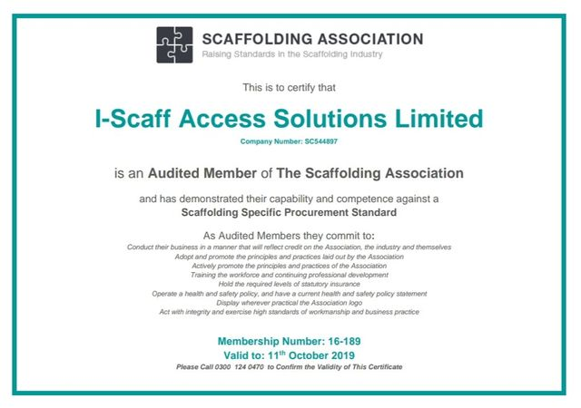 Scaffold erectors | I-Scaff Access Solutions Ltd