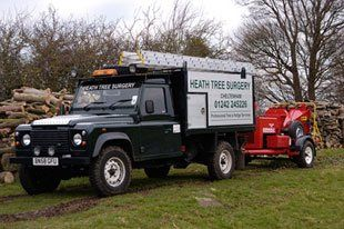tree surgery - Cheltenham - Heath Tree Surgery - Landrover
