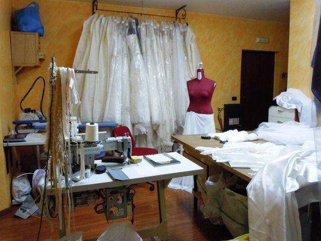 Laboratiro interno dell'atelier Anna Biancardi