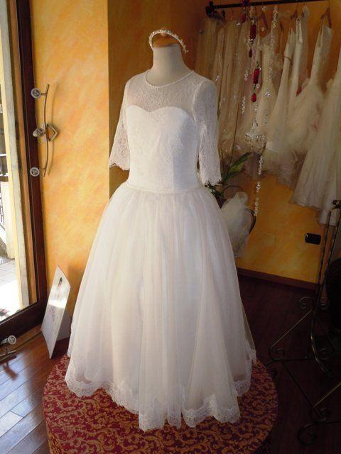 abito da cerimonia per la comunione dell'atelier Anna Biancardi