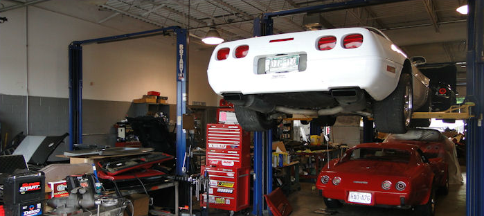 Mechanic repairing brake pad