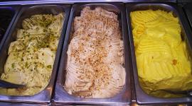 gelato alla frutta, gelato alla crema, gelato alla nocciola