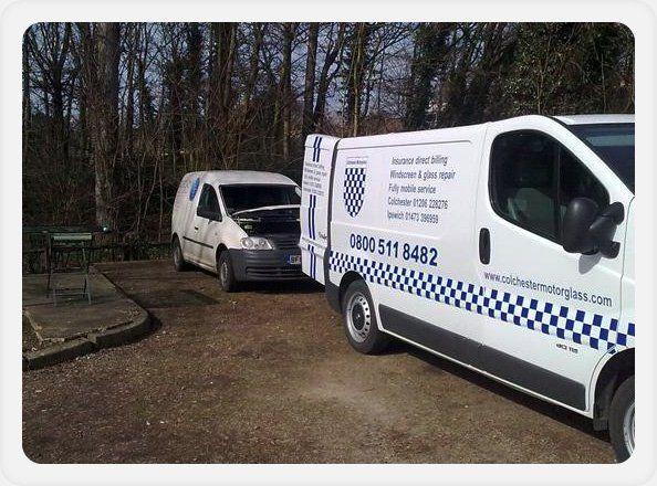 Windscreen repair - Colchester, Essex - Colchester Motorglass - service van