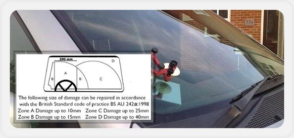 Windscreen replacement quote - Colchester, Essex - Colchester Motorglass - size of damage