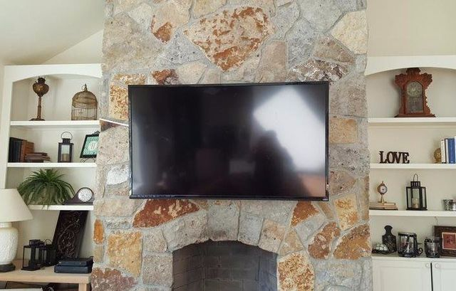 Fireplace tv installations, fireplace tv mounting, fireplace tv mounting near me, TV Installations, TV installation near me