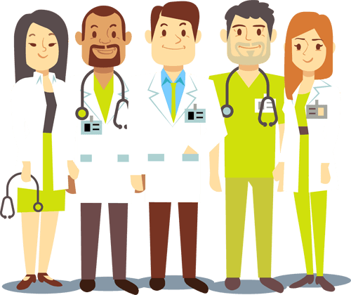 illustration of doctors