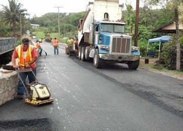Our asphalt paving team working in Puunene