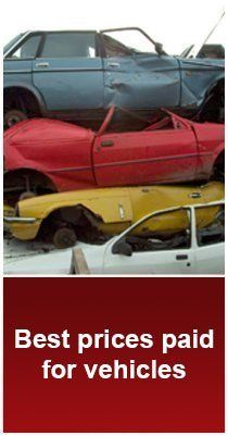 Scrap cars - Luton - M A Hunt Ltd - blue red yellow and white scrap cars