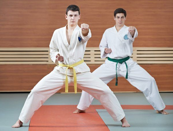 Due allievi di Judo a lezione