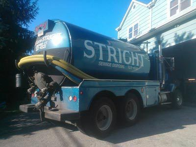 Septic truck in Stamford