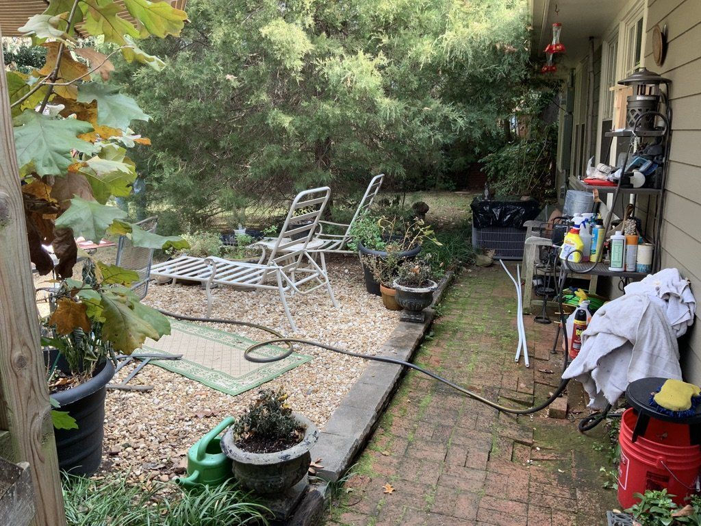 custom outdoor deck remodel before in arkansas