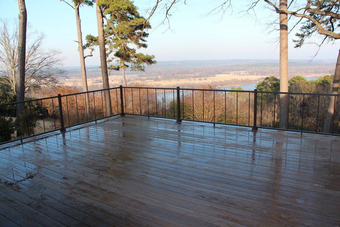 wooden deck remodel in arkansas