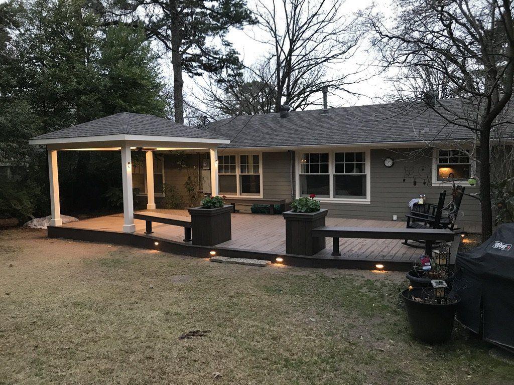 custom outdoor deck remodel after in arkansas