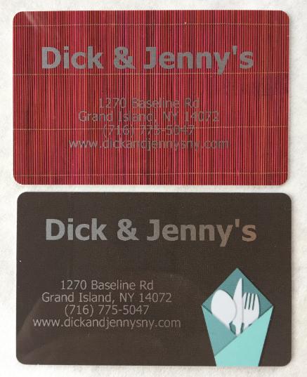 Really. dick and jennys menu