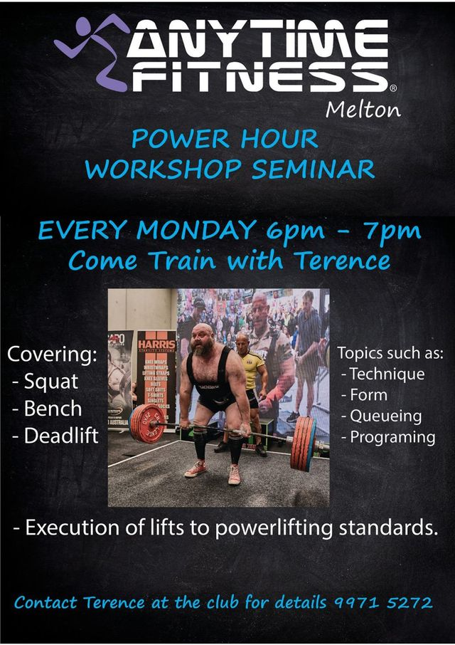 Power hour workshop seminar at Anytime fitness melton