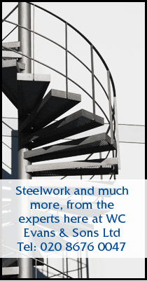 Steel fabrication - Penge, London - WC Evans & Sons Ltd - Stairs
