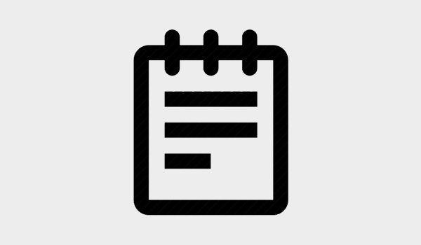 icona di un taccuino nero su uno sfondo bianco