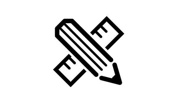 Icona di una matita e di un righello incrociati