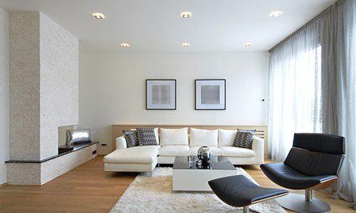 Salotto con design moderno