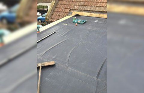 weather-resistant flat roof