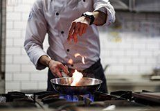Catering Company Chef Cooking In Long Island City NY